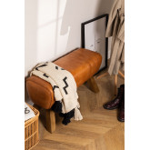 Leather Bench Aldra , thumbnail image 1