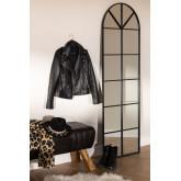 Wall Mirror in Metal Window Effect (180x59 cm) Paola L, thumbnail image 1