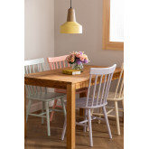 Wooden Dining Chair Shor Colors , thumbnail image 1