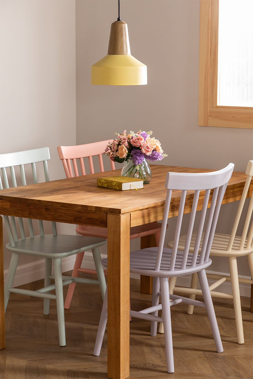 Wooden Dining Chair Shor Colors , gallery image 1