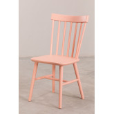 Wooden Dining Chair Shor Colors , thumbnail image 2