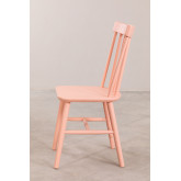Wooden Dining Chair Shor Colors , thumbnail image 3