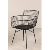 Metal Chair with Cuadry Armrests , thumbnail image 2