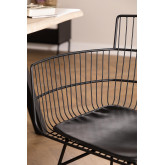 Metal Chair with Cuadry Armrests , thumbnail image 4
