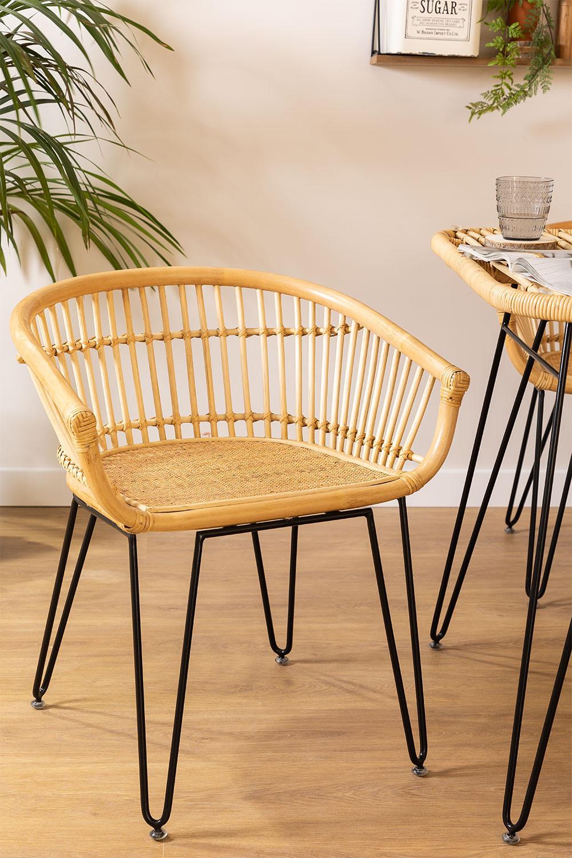 Zenta Rattan Chair, gallery image 1