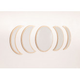 Wall Mirrors in Wood 5 pieces Estel, thumbnail image 2
