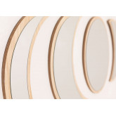 Wall Mirrors in Wood 5 pieces Estel, thumbnail image 3