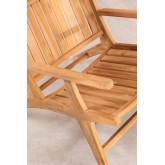 Teak Wood Garden Armchair Caima , thumbnail image 5