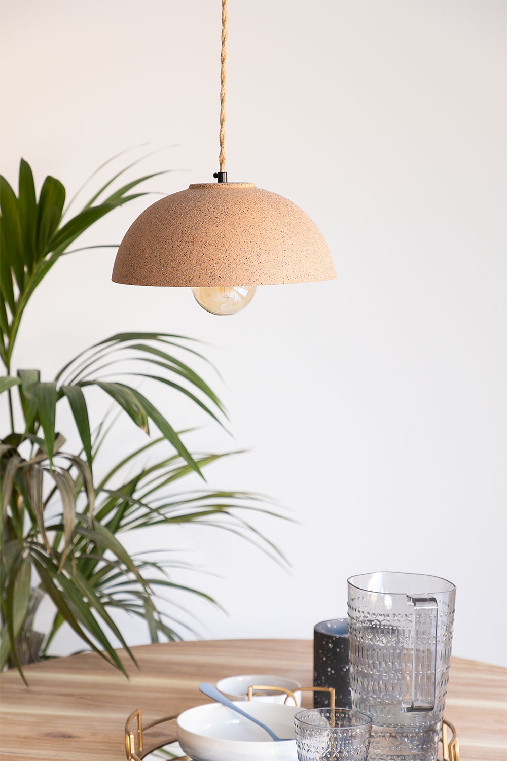 Ceiling Lamp in Porcelain Ouval, gallery image 1