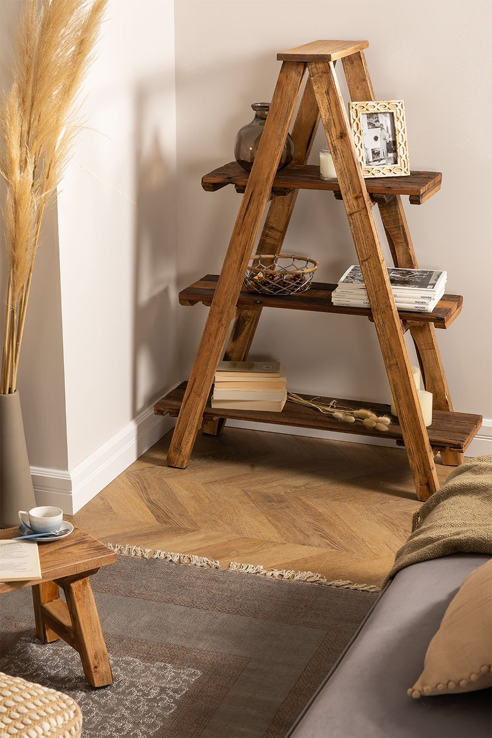 Anpers Recycled Wood Shelving, gallery image 1