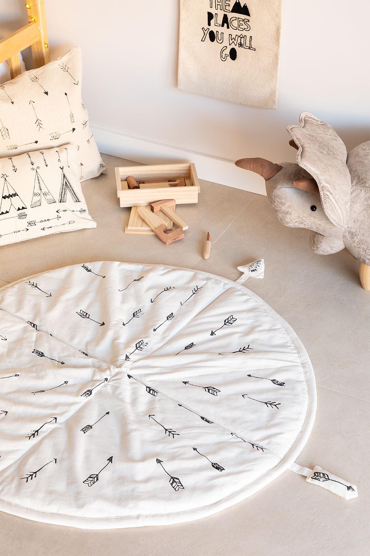 Cotton Rug (Ø100 cm) Indi Kids, gallery image 1
