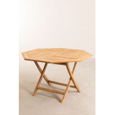 Set of Folding Garden Table and 4 Chairs in Teak Wood Pira, thumbnail image 5