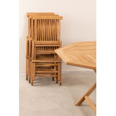 Set of Folding Garden Table and 4 Chairs in Teak Wood Pira, thumbnail image 4