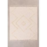 Plaid Blanket in Neutral Cotton, thumbnail image 1