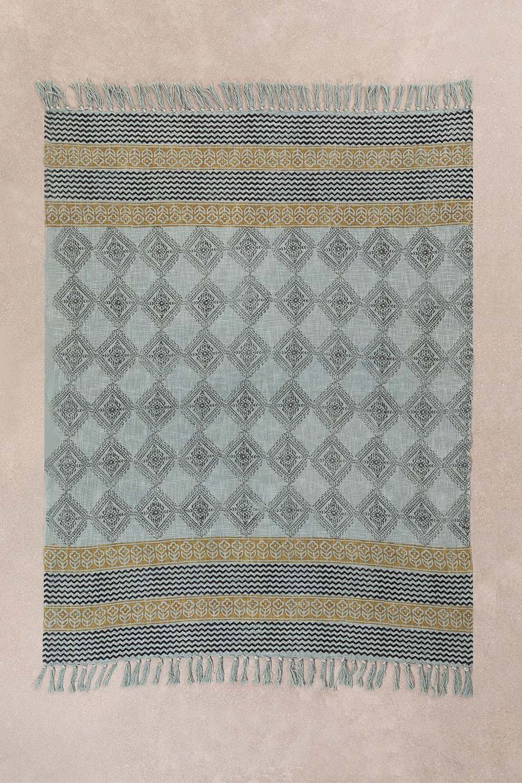 Plaid Blanket in Karelis Cotton, gallery image 1