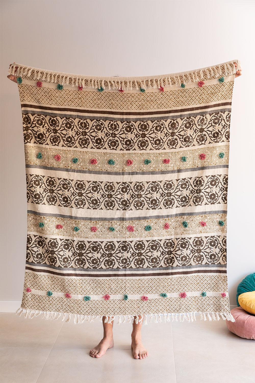 Plaid Cotton Blanket Betsi, gallery image 1