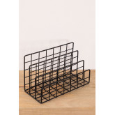 Metal Magazine Rack with Compartments Bok, thumbnail image 2