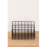 Metal Magazine Rack with Compartments Bok, thumbnail image 3