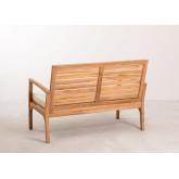 2 Seater Garden Teak Wood Sofa  Adira, thumbnail image 4