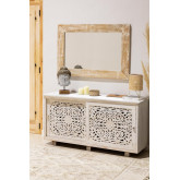 Rectangular Wall Mirror in Wood (120x80 cm) Vuipo, thumbnail image 6