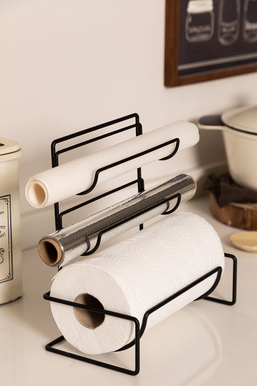 Domma Kitchen Wall-Mounted Roll Holder, gallery image 1