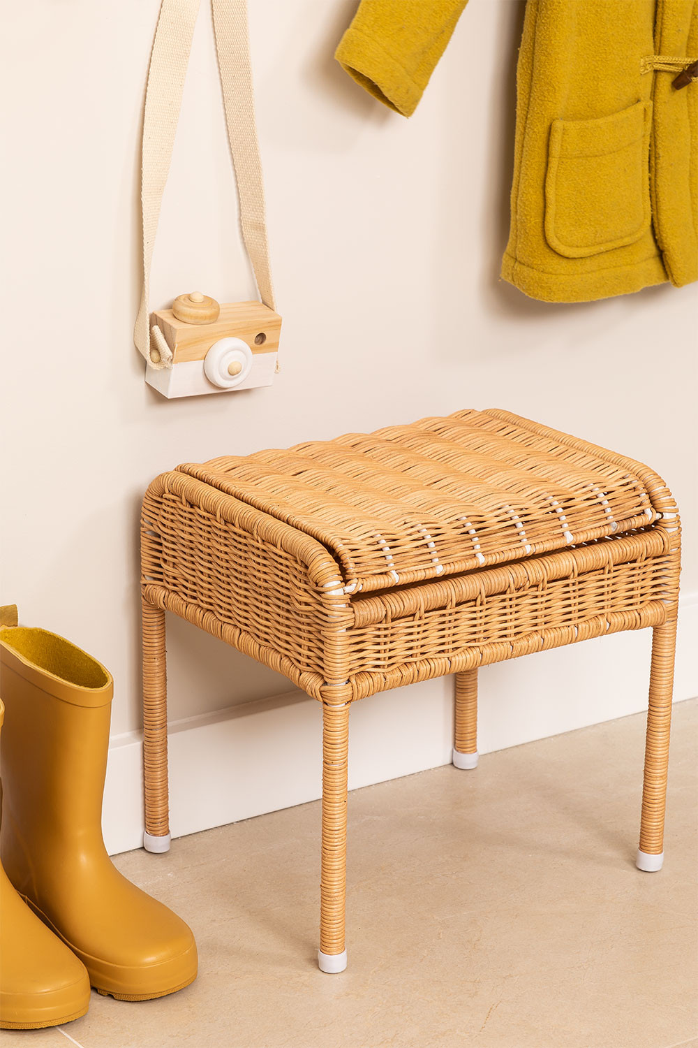 Stool with Storage in Ratan Yei Kids, gallery image 1