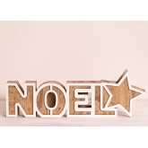 WOODEN SIGN WITH LED LIGHTS NOEL, thumbnail image 4