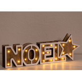 WOODEN SIGN WITH LED LIGHTS NOEL, thumbnail image 3