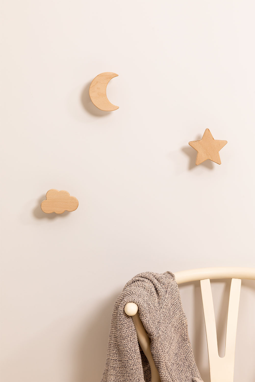 Eskay Kids Wooden Wall Coat Rack, gallery image 1
