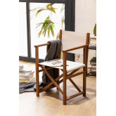 Foldable Director Chair Pitt, thumbnail image 1