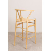 High Stool with Back in Uish Wood, thumbnail image 4