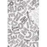 Washable Tablecloth with 12 Letters Kids Coloring Markers, thumbnail image 4