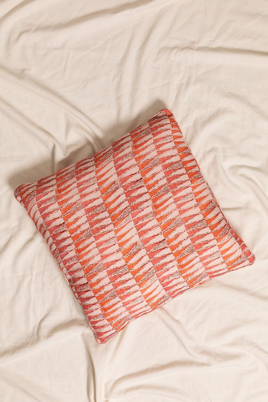 Zugui Square Cotton Cushion (50x50cm) , gallery image 1