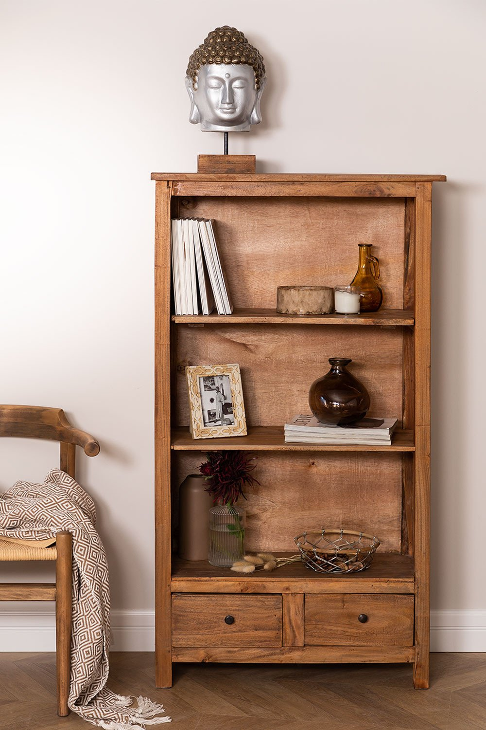 Set of 2 Recycled Wood Bookcases Jara, gallery image 1