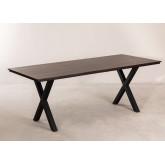 Acacia Wood Dining Table 200 cm Mhosit X, thumbnail image 842017