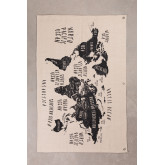 Decorative Wall Map in Cotton Terra, thumbnail image 1
