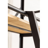 Recycled Wooden Bookcase with Ladder Uain , thumbnail image 6