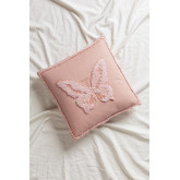 Cushion with Cotton Embroidery (45x45 cm) Bloom Kids, thumbnail image 1