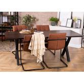 Acacia Wood Dining Table 200 cm Mhosit X, thumbnail image 855407