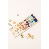 Puzzle with Wooden Numbers Sesil Kids, thumbnail image 1