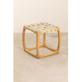 Low Stool in Ash Wood and Simon Leatherette, thumbnail image 2