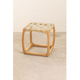 Low Stool in Ash Wood and Simon Leatherette, thumbnail image 3
