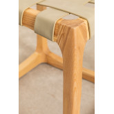 Low Stool in Ash Wood and Simon Leatherette, thumbnail image 5