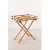 Bamboo Foldable Side Table with Tray Wallis, thumbnail image 1