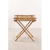 Bamboo Foldable Side Table with Tray Wallis, thumbnail image 2