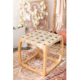 Low Stool in Ash Wood and Simon Leatherette, thumbnail image 1