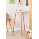 Round High Table in MDF and Metal (Ø60 cm) Royal Design, thumbnail image 1