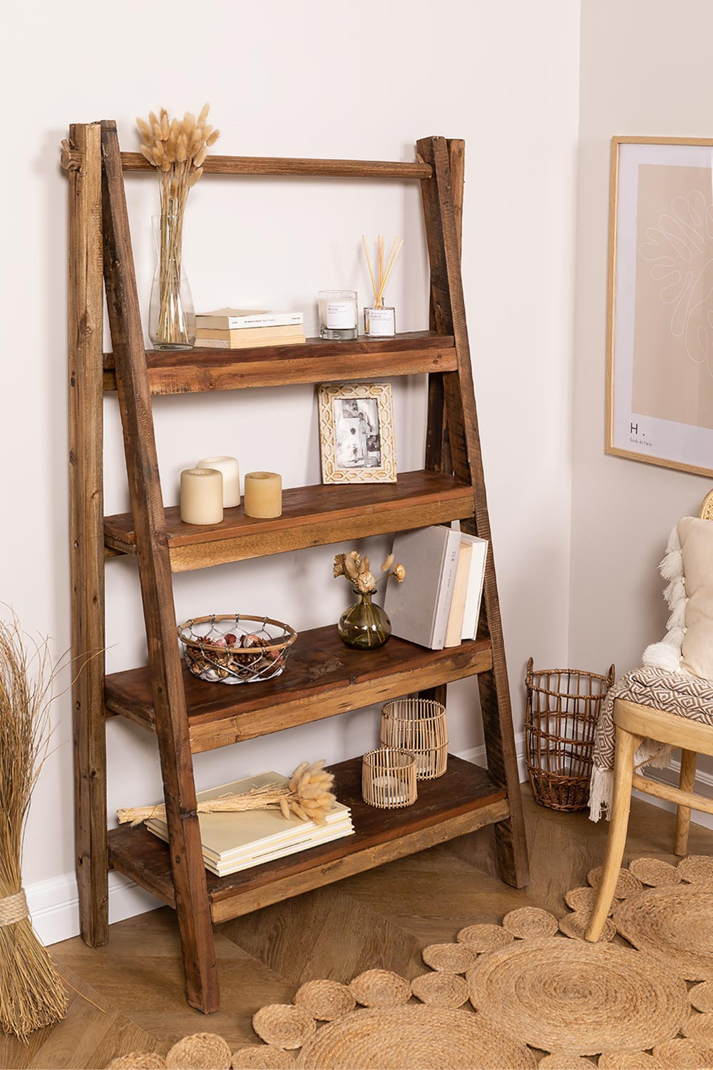 Daman Recycled Wood Shelving, gallery image 1
