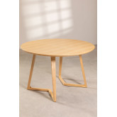 Round Dining Table in Ash Wood (Ø120 cm) Keira, thumbnail image 2
