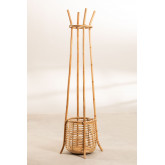 Groll Rattan Coat Rack with Basket, thumbnail image 2